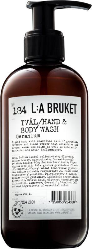 L:A Bruket Body tekuté mydlo s pelargóniou na ruky a telo