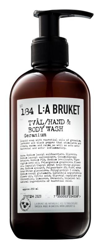 L:A Bruket Body рідке мило з пеларгонією для тіла та рук