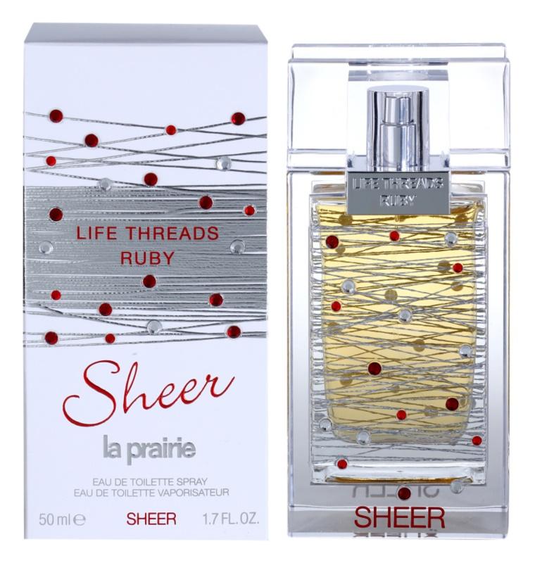 La Prairie Life Threads Sheer Ruby eau de toilette pour femme 50 ml