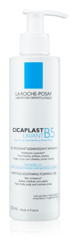 La Roche-Posay Cicaplast Lavant B5 kojąco-oczyszczający, pieniący się żel