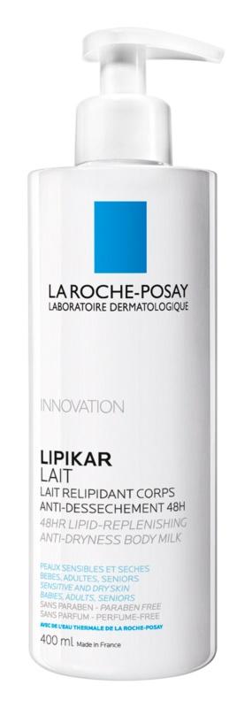 La Roche-Posay Lipikar Lait lipid helyreállító testtej bőrkiszáradás ellen