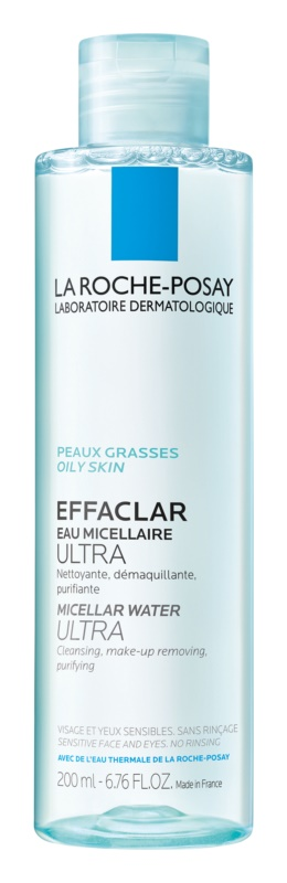 La Roche-Posay Effaclar Ultra reinigendes Mizellarwasser für problematische Haut, Akne