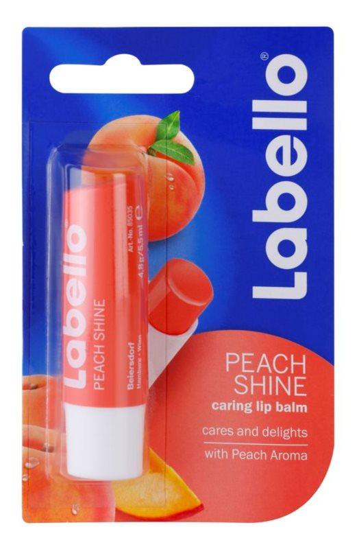 Labello Peach Shine tönender Lippenbalsam mit Aprikosenduft