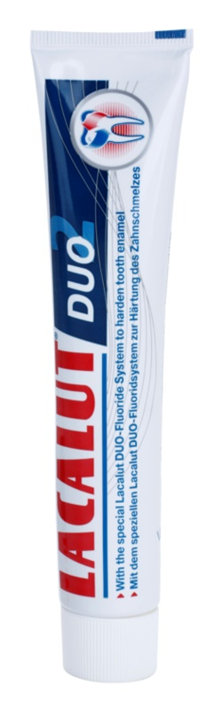 Lacalut Duo pasta para o fortalecimento do esmalte dos dentes