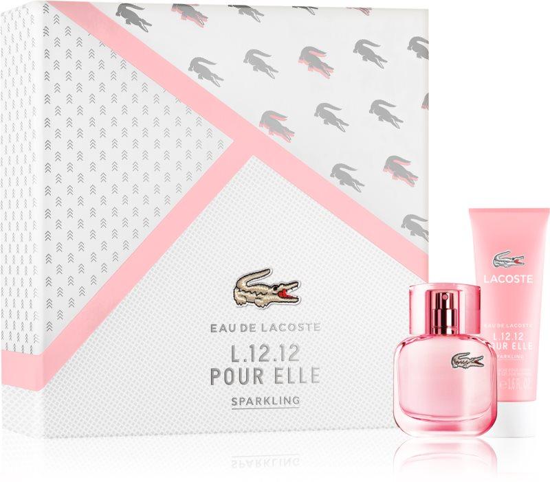 Lacoste Eau de Lacoste L.12.12 Pour Elle Sparkling darilni set III.