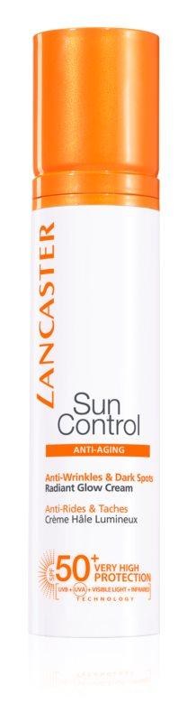 Lancaster Sun Control krem do opalania do twarzy z efektem przeciwzmarszczkowym SPF50+
