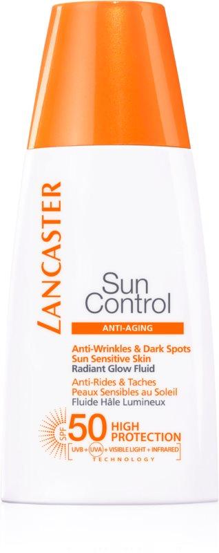Lancaster Sun Control lozione abbronzante illuminante antirughe SPF 50