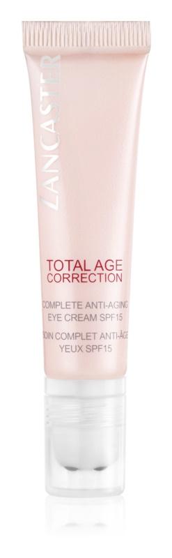 Lancaster Total Age Correction creme antirrugas para contorno de olhos SPF 15