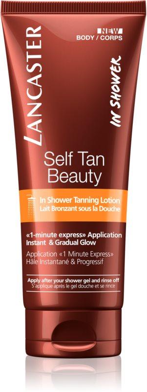 Lancaster Self Tan Beauty lait corporel auto-bronzant sous la douche pour un bronzage progressif