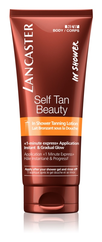 Lancaster Self Tan Beauty lotiune auto-bronzare sub dus pentru bronzare treptata