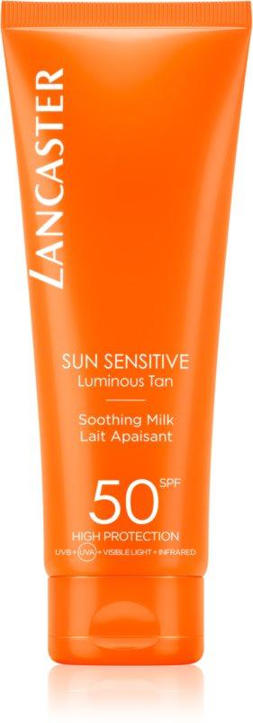 Lancaster Sun Sensitive opalovací mléko pro citlivou pokožku SPF 50