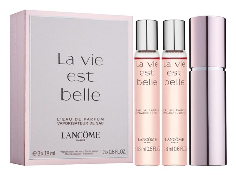 Lancôme La Vie Est Belle woda perfumowana dla kobiet 3 x 18 ml (1x napełnialny + 2x napełnienie)