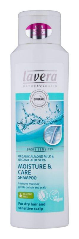 Lavera Basis Sensitiv champô para cabelo seco e couro sensivel