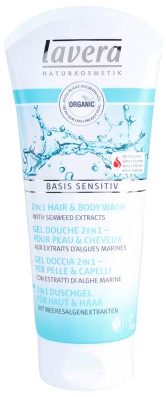 Lavera Basis Sensitiv sprchový gél na telo a vlasy