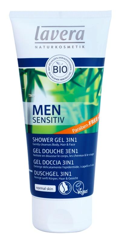 Lavera Men Sensitiv gel de duche 3 em 1