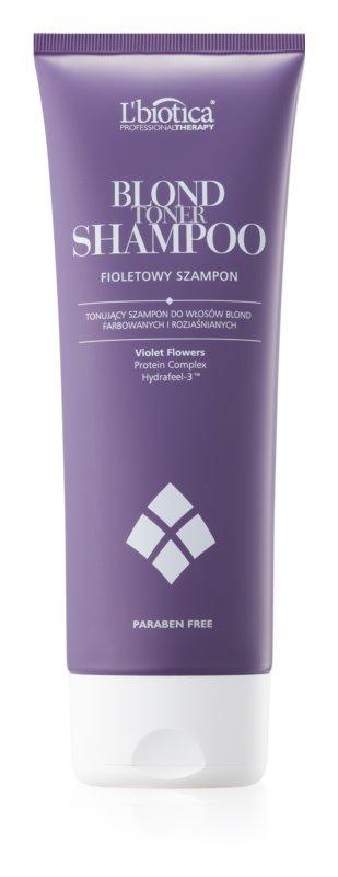 L'biotica Professional Therapy vijoličen toniran šampon za blond lase