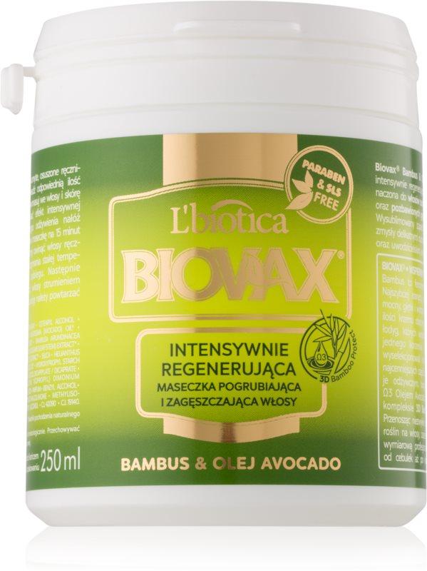 L'biotica Biovax Bamboo & Avocado Oil regeneračná maska  na vlasy
