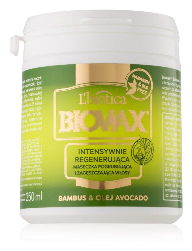L'biotica Biovax Bamboo & Avocado Oil regenerační maska na vlasy