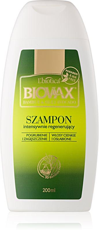 L'biotica Biovax Bamboo & Avocado Oil shampoo rigenerante per capelli deboli e danneggiati