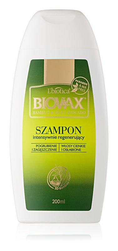 L'biotica Biovax Bamboo & Avocado Oil відновлюючий шампунь для слабкого та пошкодженого волосся