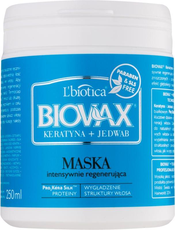 L'biotica Biovax Keratin & Silk máscara regeneradora para cabelo áspero