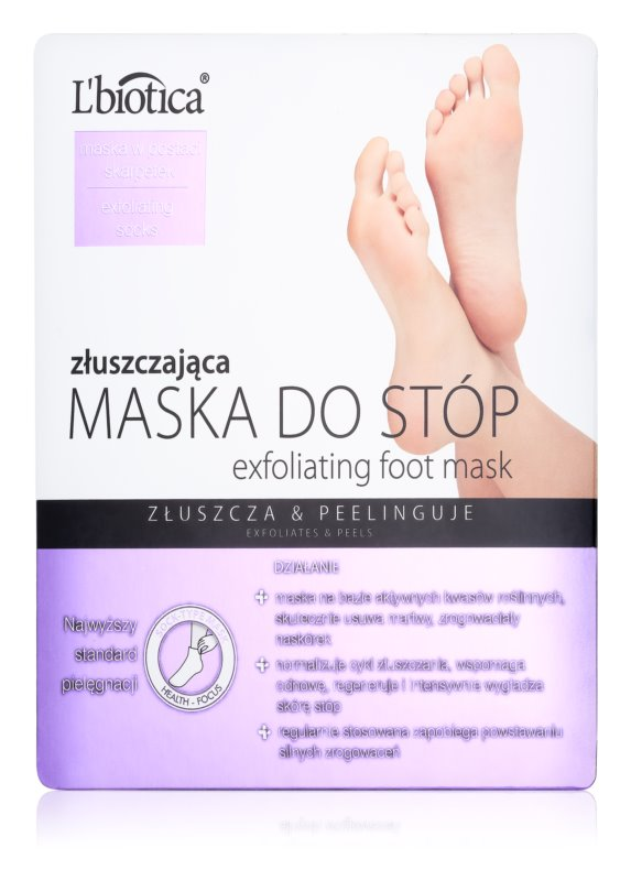 L'biotica Masks Exfoliating and Moisturising Foot Mask for Softer Feet