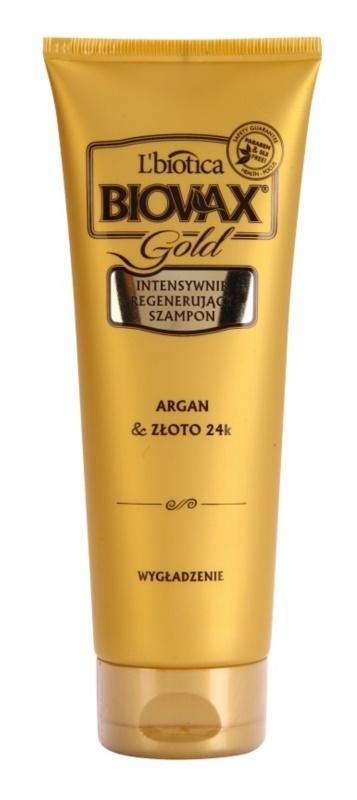 L'biotica Biovax Glamour Gold Regenerating Shampoo With Argan Oil