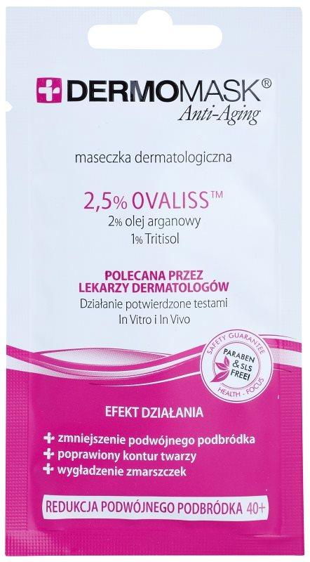 L'biotica DermoMask Anti-Aging spevňujúca maska na podbradok 40+