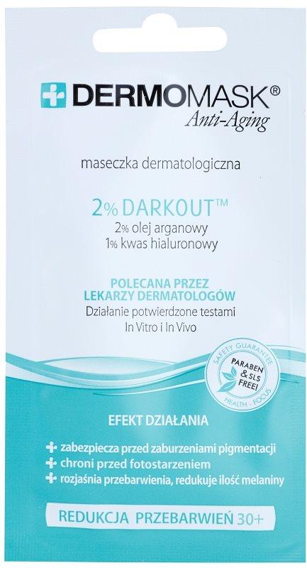 L'biotica DermoMask Anti-Aging pleťová maska proti pigmentovým skvrnám