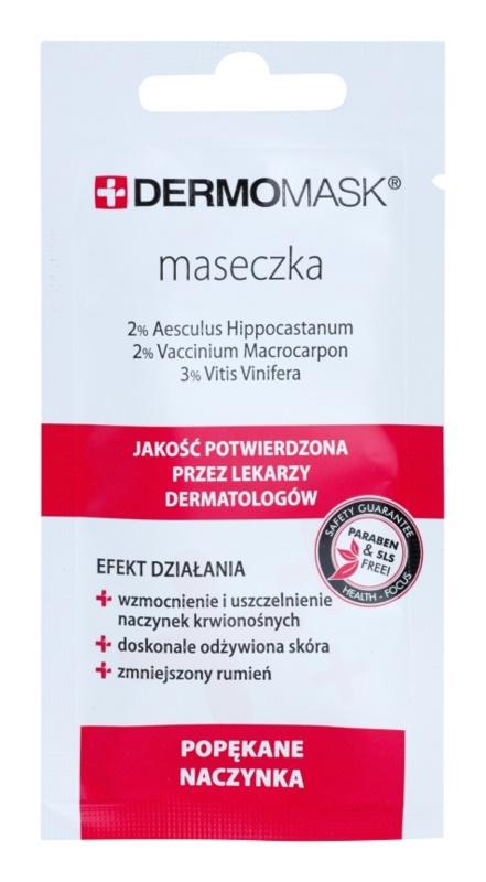 L'biotica DermoMask maska za obraz za razpokane in razširjene žilice