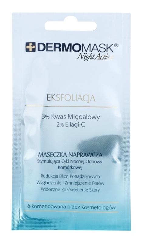 L'biotica DermoMask Night Active exfoliačná maska pre obnovu povrchu pleti