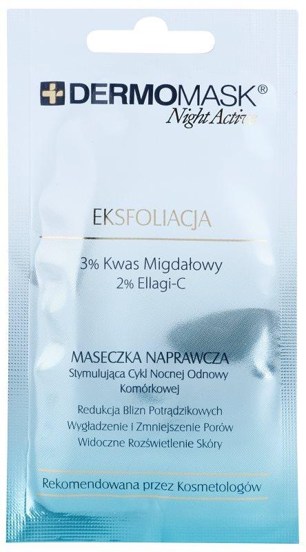 L'biotica DermoMask Night Active Peelingmaske zur Erneuerung der Hautoberfläche