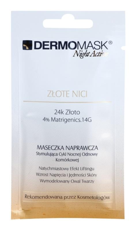 L'biotica DermoMask Night Active lifting in učvrstitvena maska z 24-karatnim zlatom