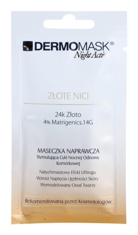 L'biotica DermoMask Night Active liftingová a zpevňující maska s 24karátovým zlatem