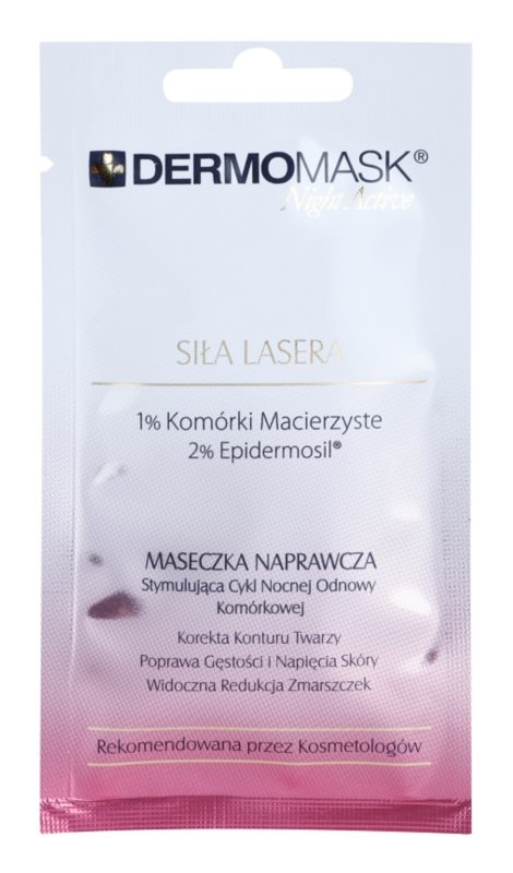 L'biotica DermoMask Night Active mascarilla rejuvenecedora intensiva con células madre