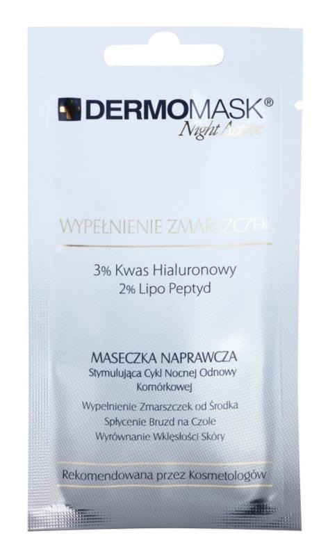 L'biotica DermoMask Night Active mascarilla antiarrugas con efecto relleno antiarrugas profundas