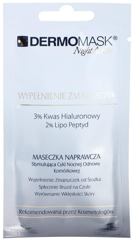 L'biotica DermoMask Night Active vyplňujúca maska proti hlbokým vráskam