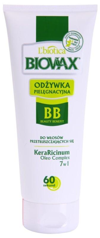 L'biotica Biovax Dull Hair hydratační kondicionér pro mastné vlasy a vlasovou pokožku