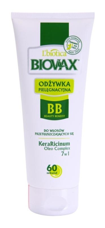 L'biotica Biovax Dull Hair vlažilni balzam za mastne lase in lasišče