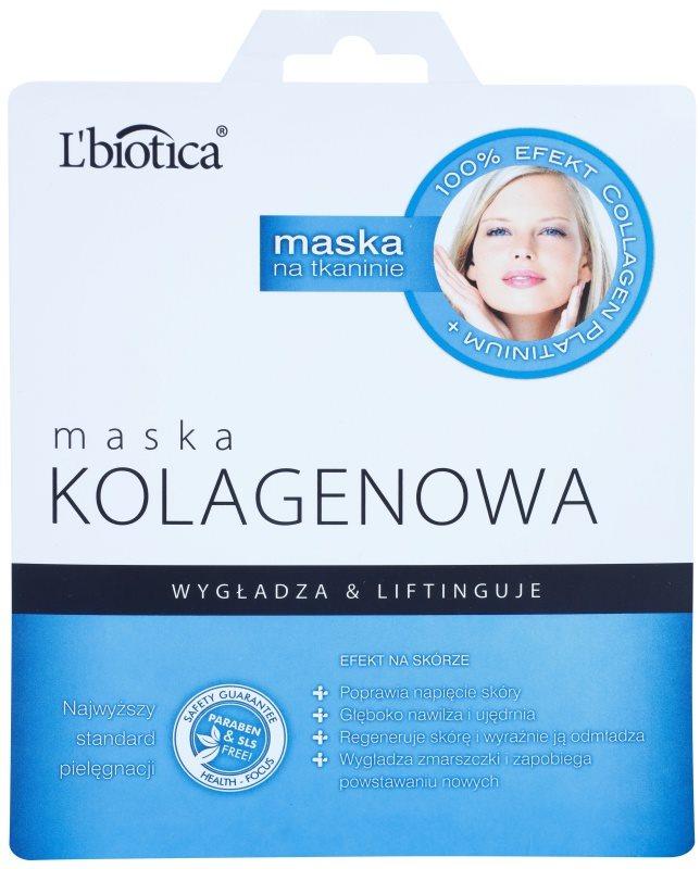 L'biotica Masks Collagen Platinium maska iz platna s kolagenom