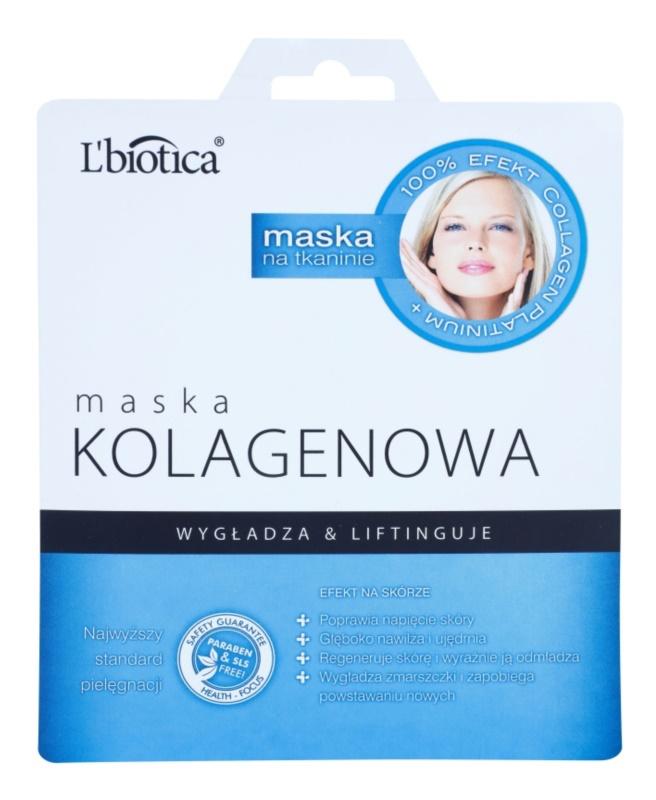 L'biotica Masks Collagen Platinium plátenná maska s kolagénom