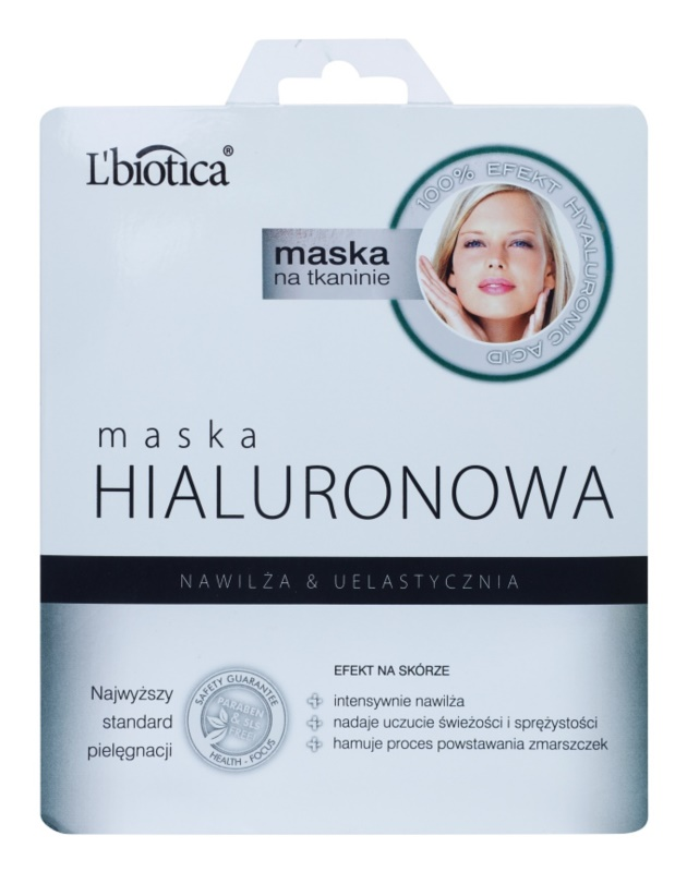 L'biotica Masks Hyaluronic Acid maska iz platna z vlažilnim in gladilnim učinkom