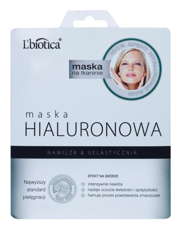 L'biotica Masks Hyaluronic Acid plátýnková maska s hydratačním a vyhlazujícím účinkem