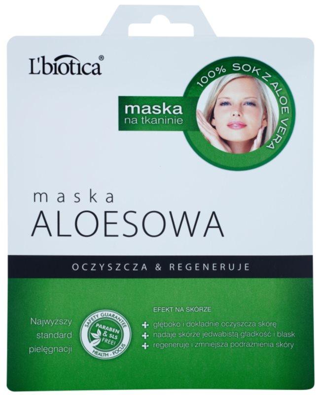 L'biotica Masks Aloe Vera mascarilla hoja con efecto regenerador