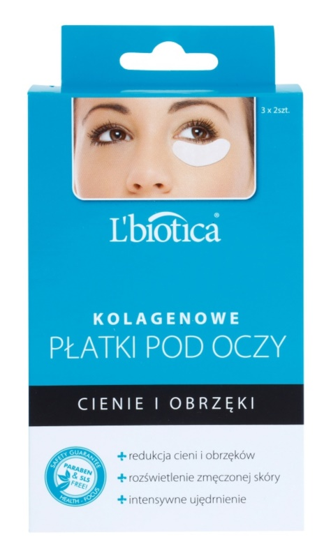 L'biotica Masks máscara para olhos com colagénio contra olheiras e inchaços