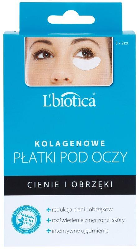 L'biotica Masks maschera al collagene contorno occhi contro gonfiori e occhiaie