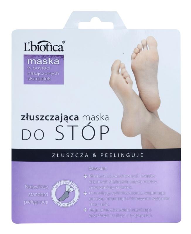 L'biotica Masks sosete exfoliante pentru hidratarea picioarelor