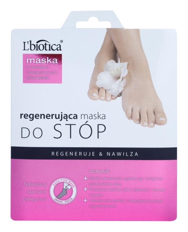 L'biotica Masks regenerační maska na chodidla ve formě ponožek