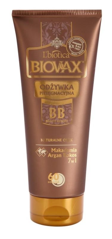 L'biotica Biovax Natural Oil hydratační kondicionér s okamžitým účinkem