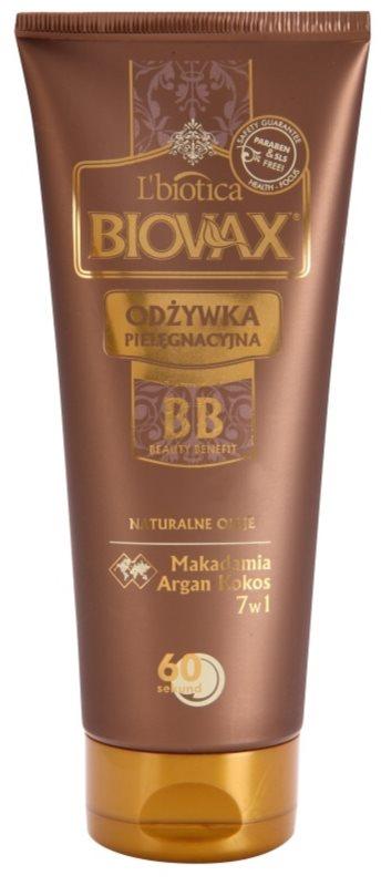 L'biotica Biovax Natural Oil hydratačný kondicionér s okamžitým účinkom